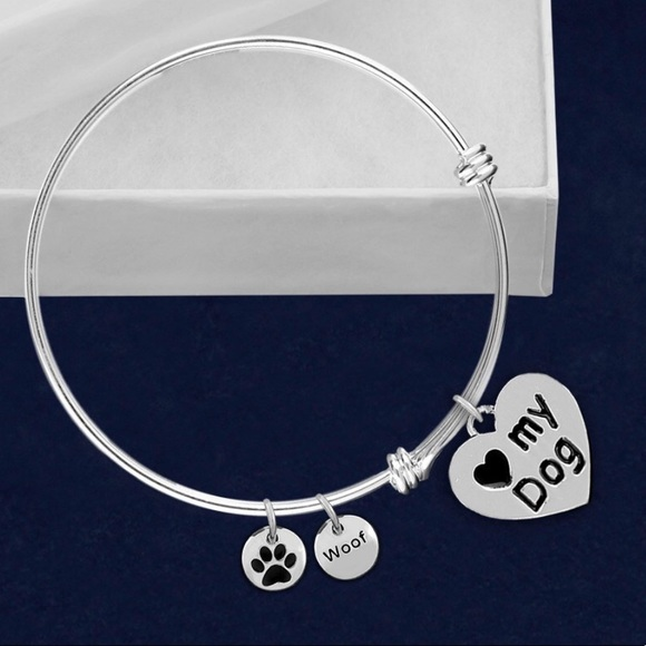 Inspired Closet Jewelry - 3 FOR $25 • Love My Dog Bangle Bracelet